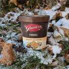 Graeter's S'mores French Pot Ice Cream in snow