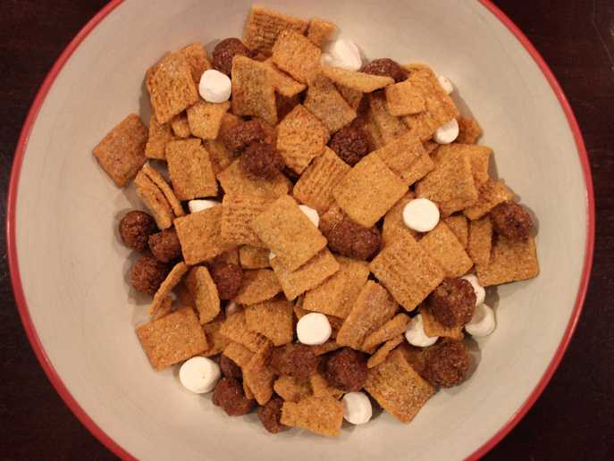 Post Honey Maid S'mores cereal in bowl